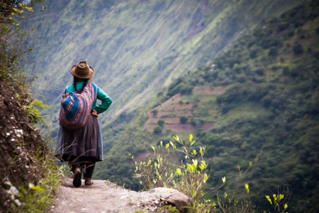 Peruvian woman on Inca Trail